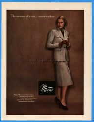 1947 Miron Woolens Womens 1940s Suit Skirt Gloves Vintage Clothing Fashion Ad