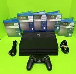 Sony Ps4 Pro Gaming Console 1tb Playstation 4 Jet Black Bundle Free Shipping