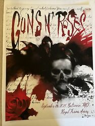 Guns And Roses Official Lithograph Baltimore Md Mint