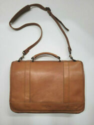 CLAIRE CHASE Leather Briefcase Messenger Bag Laptop $45.00