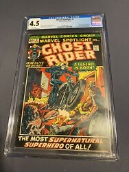 Marvel Spotlight 5 Cgc 4.5 White Pages 1st App Of Ghost Rider
