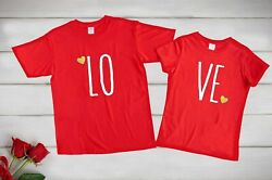 Love T-shirt For Couples Is Customized By Order White Black Red Black White 100