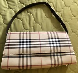 Women Tan with Brown Strap Color Stripe Faux Leather Small Bag $39.95