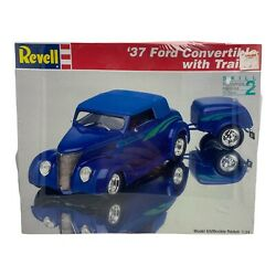 Revell Monogram #x27;37 Ford Convertible with Trailer 1:24 #85 7245 $22.00