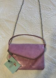 Hobo Intl Zara Lilac Pink leather crossbody NWT Convertible Chain Included $38.00
