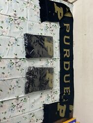 PURDUE BOILERMAKERS BLACK AND GOLD SCARF New 🌷🌷