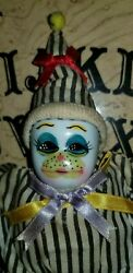 7 Inch Long Old Clown Doll Vessel. Metaphysical Paranormal Power Haunt Dolls.