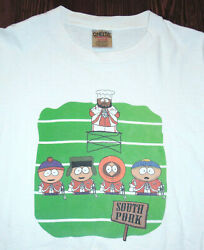 T Shirt Vintage 90s South Park Kyle Kenny Cartman Chef Marching Band Pork Xl