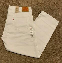 Leviand039s 569 Loose Straight Fit Jeans Wstretch White Menand039s 40x32 Nwt 59.50 0164