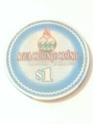 Spa Resort - Agua Caliente Casino Ca. 1.00 Gaming Chip Great For Collection