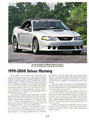 1999 2000 Ford Saleen Mustang Article - Must See - Convertible S-281 S-351