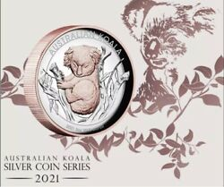 2021 Koala 5oz Silver Proof High Relief 22ct Pink Gold Gilded Coin Sold Out