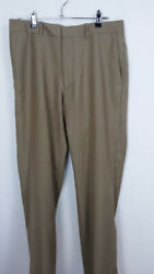 Axist Men's Dress Pants Size 32x30 Canvas Button And Zip Relaxed Fit Casual