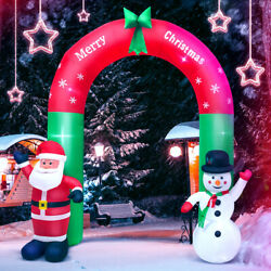 8ft Christmas Outdoor Lighted Inflatable Decor Giant Yard Party Decoration Snow