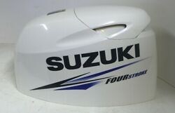 Suzuki Four Stroke Outboard Engine Motor Cowling Top Cover 60 Hp White / Blue
