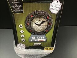 Real Clock The Nightmare Before Christmas And Halloween Countdown Clock