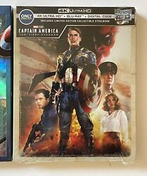Captain America The First Avenger 4k Uhd Blu-ray Dig. Copy. New Sealed Steelbook