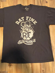 Vintage 2000s Rat Fink Ed Big Daddy Roth T-shirt Size Xl Double Sided Brown R.f.