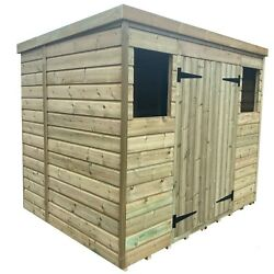 Empire 5000 Pent Garden Shed 10x8 12x8 14x8 Shiplap Pressure Treated All Sizes