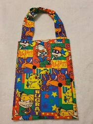 Kids Tote Bag Featuring colorful Rugrats Halloween Trick Or Treat Bag $6.00