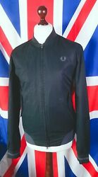 Fred Perry Bomber Jacket - M/l - Black - Mod Casuals 60and039s