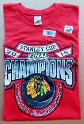 2015 Chicago Blackhawks Hockey -- Stanley Cup Champions -- Red Mens Large Shirt