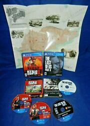 Ps4red Dead Redemption 2,w/poster, The Last Of Us Part 2, 4 Discs Ln, W/inserts