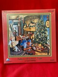 Father's Christmas Train Puzzle By Susan Brabeau 500 Pc Puzzle Made In Usa -new