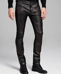 John Varvatos Black Leather Pants 31 Brand New Tags Attached