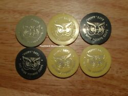 6 Vintage Wise Potato Chips Lot Bottle Caps Promotional Toppers 1960s Peppy