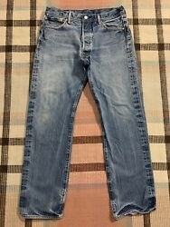 Levi's 501 Button Fly Denim Jeans Great Fade Measure 33x31 2995