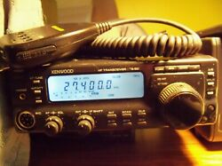 Kenwood T-50 Xcvr 160-10m 125+watts Out Mars Mod And 30 Amp Power Supply Mic.