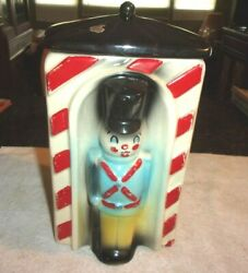 Rare Old Vintage American Bisque Toy Soldier Cookie Jar 1950s 11 1/2 Tall