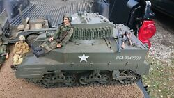 Soldier 21st Century 1/6 Scale Wwii M5 Stuart Rc Tank W/ Free Jeep 3 Figures