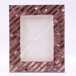 Picture Frames /photo Frame Alabaster Marble Inlay Collage Frames Mop Inlaid Art