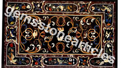 4and039x3and039 Marble Marquetry Top Decorative Dining Table Top Hallway Decor Furniture