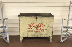 Rare Handpainted Antique Flour Bin Bristol Tennessee Hechts Bakery Early Tn Sign
