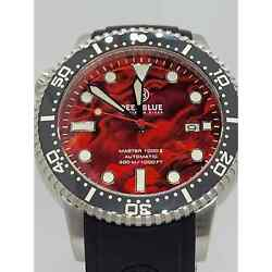 Deep Blue Red Abalone Master 1k Automatic 44mm Diver
