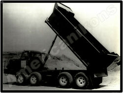 Hendrickson Trucks New Metal Sign Red Top Four Axle Heavy Dump Truck Pictured