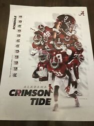 2021 Alabama Football Schedule Poster Bryce Young , Will Anderson , Metchie