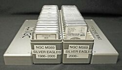 1986-2021 American Eagle Complete 37 Coin Set Ngc Ms69