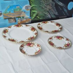 Royal Albert Old Country Roses4 Piecesdinner Plate/salad/butter Dish/saucer