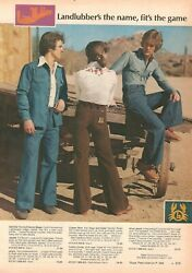 Vintage 1976 Landlubber Blue Jeans Jackets Clothing Catalog Print Ad Clipping
