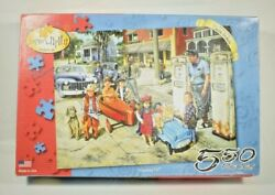 Serendipity - Gassing Up Susan Brabeau 550 Piece Jigsaw Puzzle - 100 Complete
