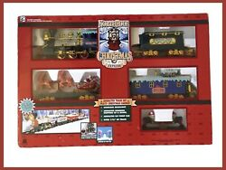 North Pole Express Christmas Animated Musical Train Set New In Box Vintage 1996