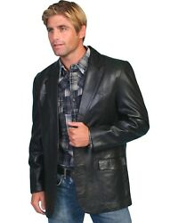 Scully Men's Lamb Leather Blazer - Big And Tall - 501-179-tll