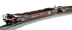 Kato 309053 Ho Gunderson Maxi-iv Double Stack Well Car Set - Bnsf Rd 253791