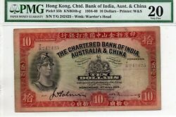 The Chartered Bank Of India Aust. And China Ten Dollars 1934 In Pmg 20 Handsignd