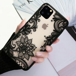 For iPhone 13 Pro Max 12 11 8Plus X XR Mandala Lace Flower Cute Phone Case Cover