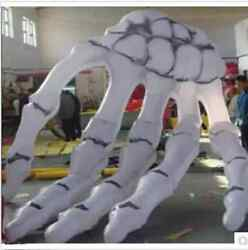 Inflatable Skeleton Hand For Halloween Decoration With Led Light 5m Bi